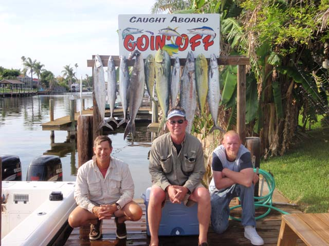 Another happy crew with their catch caught while deep sea fishing aboard the Goin Off out of Port Canaveral near Cocoa Beach
