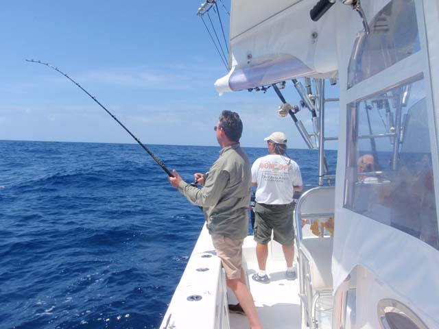 Fight a smoker king while deep sea fishing aboard the Goin Off out of Port Canaveral near Cocoa Beach