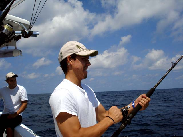 Fishing action while deep sea fishing aboard the Goin Off out of Port Canaveral near Cocoa Beach