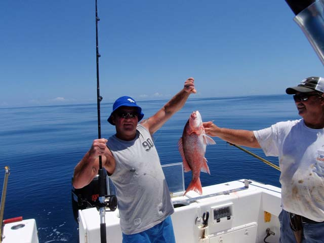 Another keeper Red Snapper caught Deep Sea fishing aboard the Goin Off while fishing out of Port Canaveral near Cocoa Beach
