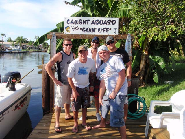 Another happy crew after a fun day fishing aboard the Goin Off in beautiful Cocoa Beach, Florida.